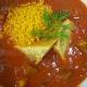 Scharfe Tomatensuppe mit Okraschoten, Orangencouscous und Bananenbrot